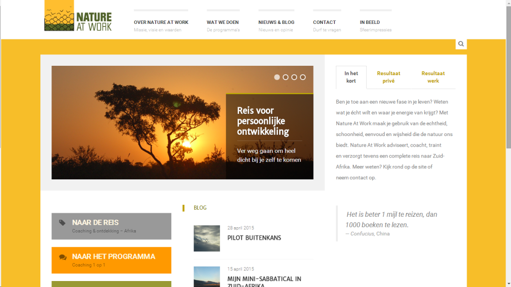 Realisatie huisstijl en website Nature At Work